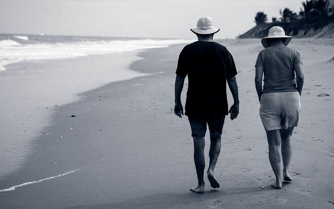 walking on beach